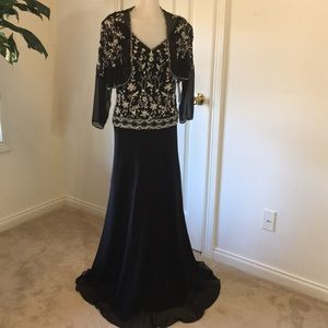 JKARA 2 Dress /Jacket Black Beaded NWT SZ 10